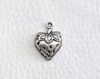 Tibetan silver Strawberry charm