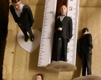 LoT of 12 _Groom_Vintage, NEW,  Tuxedo Miniatures_Cup Cake Toppers_Professional_ Groom_Groomsmen