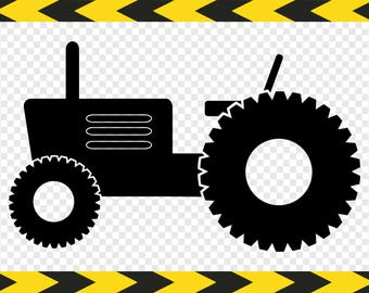 Tractor Svg Clip art Clipart Decal Cut files Cuttable designs for Cricut Silhouette Pdf Dxf Png