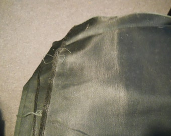 Dark green drapery satin - two pieces