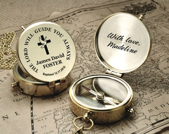 Baptism Gift Boy, Engraved Compass, Boy Baptism Gift, Confirmation Gift Boy, Personalized Compass, Compass, Baptism Compass, engraved gift