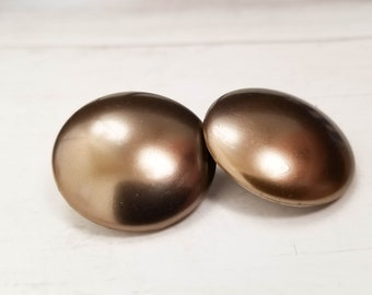 90s // Bronzing circle earrings