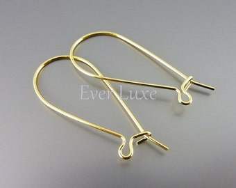 20 Medium kidney ear wires earwires earrings for jewelry making craft supplies jewelry supplies B025-BG-MED