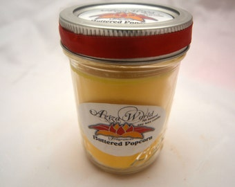 Buttered Popcorn Soy wax candle, with buttered popcorn scent, popcorn scent, butter scent, christmas candle, popcorn candle, handmade candle