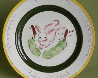 Stangl Kiddieware Peter Rabbit Plate