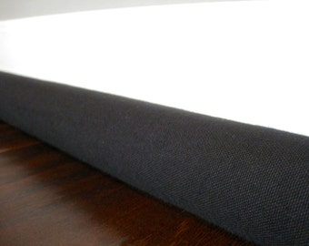 CANVAS custom length door draft guard, light noise blocker, choose your canvas color