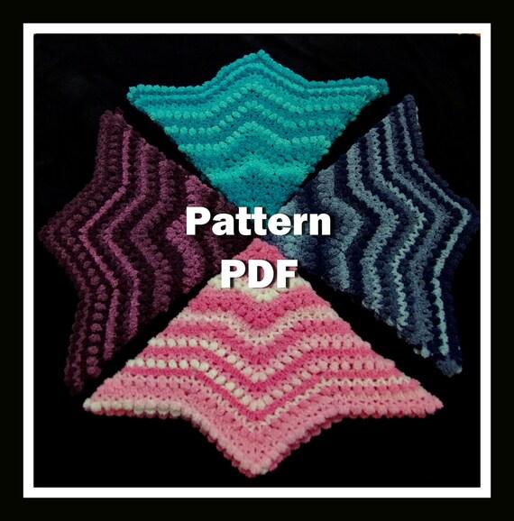 Crochet bebé manta patrón fácil rizado redondo afgano