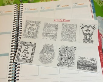 Planner Stickers: Color me Full Boxes 1