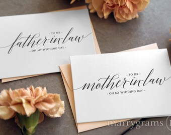 Wedding Card to Your Future Mother and Father in-law - Parents of the Bride or Groom Cards - Mother of the Groom Gift (Set of 2) CS13