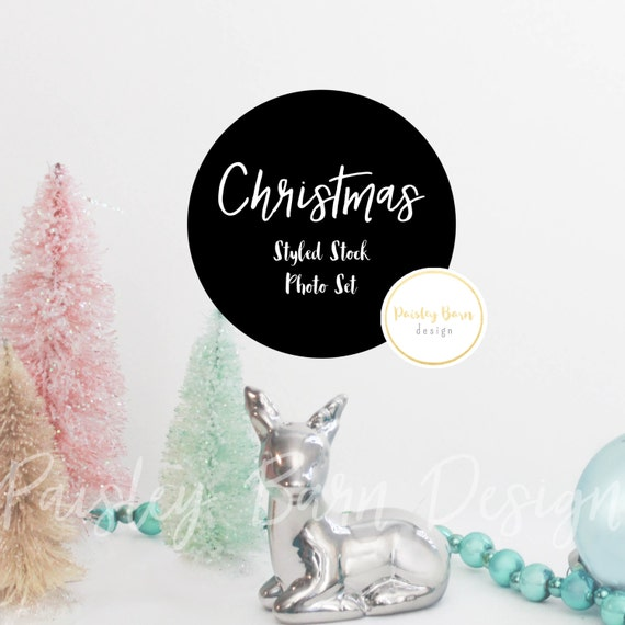 Styled Stock Photography | Christmas | Pink Teal Blue | instagram, blog, branding, holiday, promotion, social media, digital background