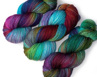Hand Dyed Yarn Merino Nylon Sock Yarn, 433 yards, Take the First Step