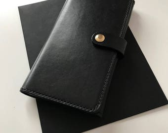 Handmade.Big leather wallet Travel wallet Big wallet Large wallet Long wallet Men wallet Woman wallet