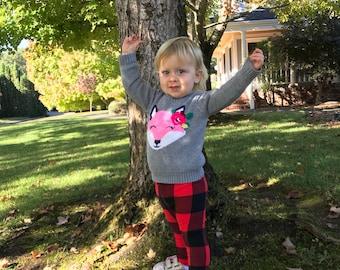 Buffalo Plaid Leggings // toddler // kid leggings