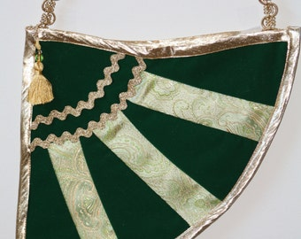 The Pot O' Gold: Velveteen and Brocade Shoulder Purse