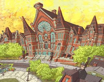 Cincinnati Music Hall 20x14 Paper Print by Mike Maydak