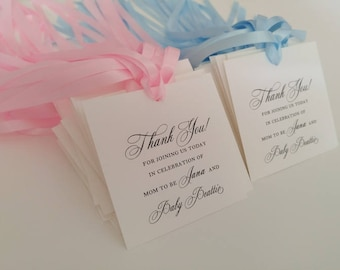 Caterina on etsy baby shower gift tag for guest favors personalized thank you tags party favor tags negle Image collections