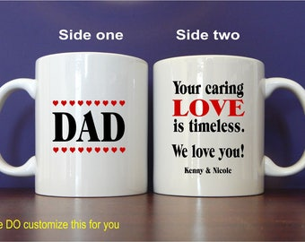 Personalized  Dad  Birthday Coffee Mug Gift , Papa Fathers Day Custom Gift for Best Dad Ever, Gift to Daddy, MDA002