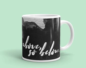 As Above So Below Mug, Occult, Alchemy, Hermetic, Magic Art Gift, The Occult, Witchcraft Mug, Graphic Ceramic Cup, Gift For Tea Lovers, Mug