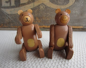 Vintage Fisher Price Brown Bears Little People Circus Bear made in Hong Kong