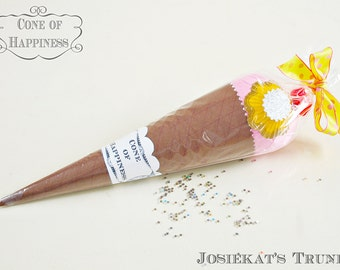 """Surprise Ball """"Cone of Happiness"""" Party Favor Vintage Novelty Cone"""