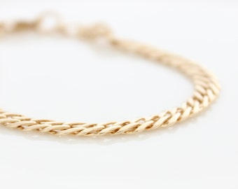Chunky Gold Bracelet • Gold link bracelet • Gold chain bracelet • Gifts for her