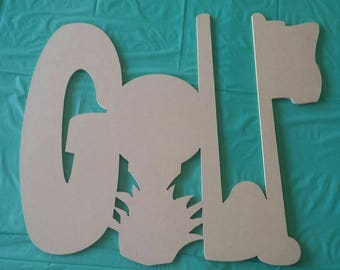 "22"" W x 20"" H unfinished GOLF cutout"
