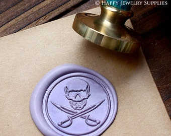 Buy 1 Get 1 Free - Wax Seal Stamp - 1pcs Skull Metal Stamp / Wedding Wax Seal Stamp / Sealing Wax Stamp (WS048)