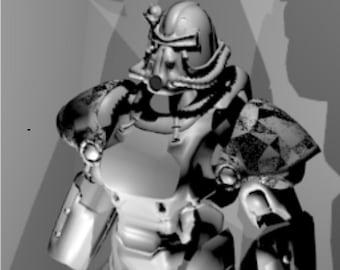 Fallout T-51B cosplay power armor replica patterns for pepakura