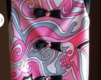Handmade Pucci Pink Swirl  Spandex dog tshirt