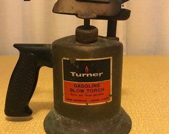 Turner Gasoline Blow Torch -- Brass Vintage