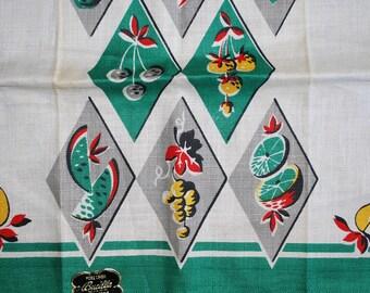 Vintage Kitchen Towel-Fruit Galore