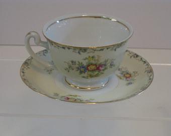 Vintage porcelain china tea cup set, Grace China, GRA2 Made in Japan