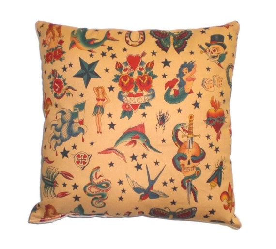 Tattoo Sailor Jerry Throw Pillow Decorative Pillow Home Decor