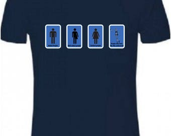 Trans equality, equal rights, humour toilet signs t shirt