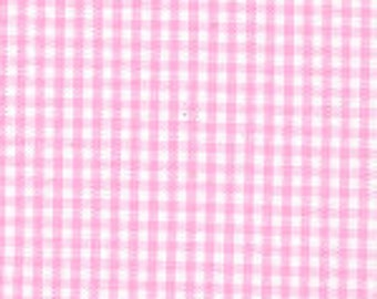 "HALF YARD 1/16"" BUBBLEGUM Fabric Finders Gingham"