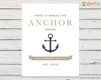 Nautical Decor, Nautical Wall Decor, Printable Art, Printable Wall Art, Nautical Gifts, Wedding Gift, Housewarming Gift, Anniversary Gift