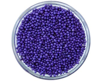 Lavender Non-Pareils - vibrant tiny purple sprinkles for decorating cupcakes, cakes, cakepops, cookies, and ice cream