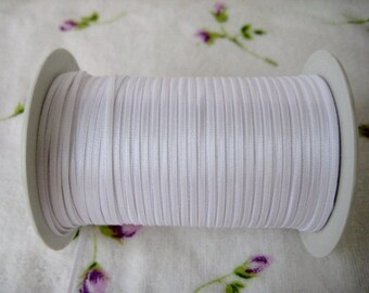 1/16 inch White Satin Ribbon for Crafting, Tags, Baby Shower, Party Favor, Sewing, Wedding, 1.6 mm, 10 yards