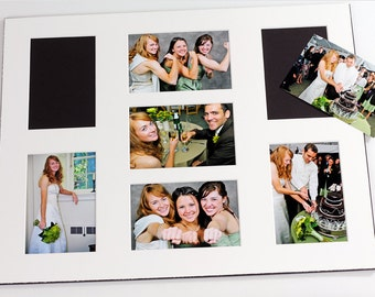 Collage / Grouping Photo Mat - Fits 16x20 Frame - Multi Opening - Custom Color
