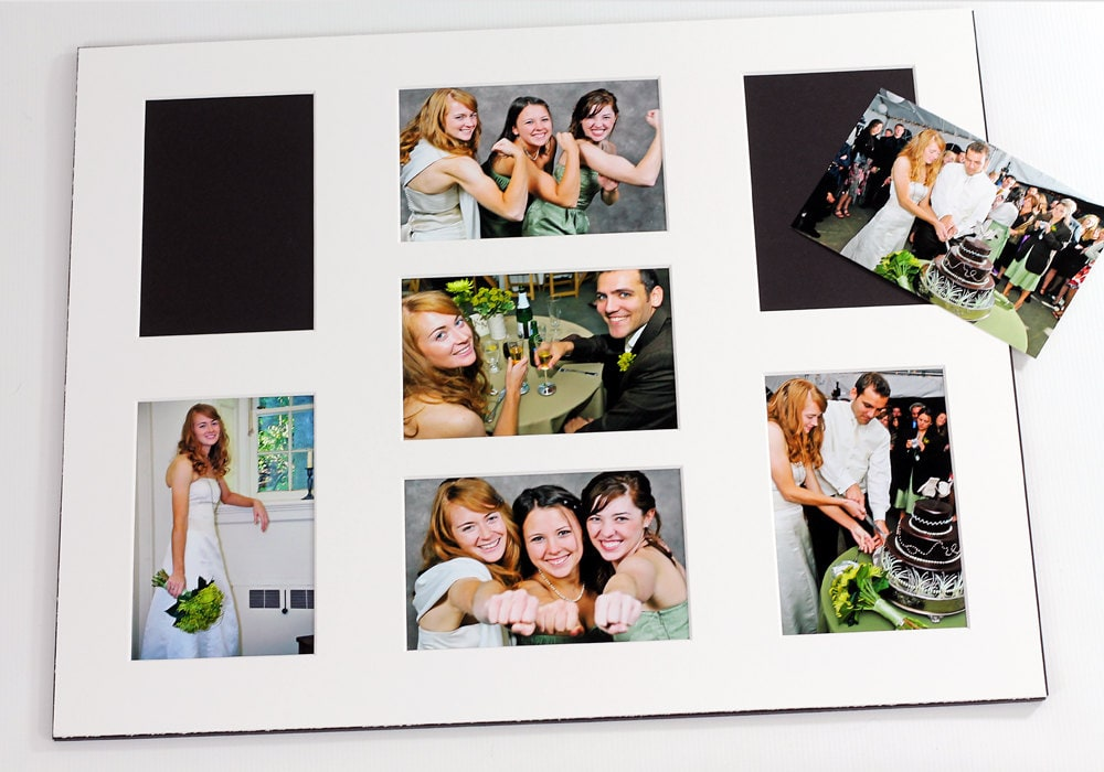 Collage Grouping Photo Mat Fits 16x20 Frame Multi