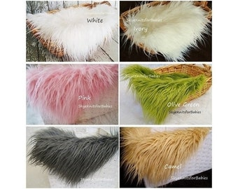 Faux Fur Newborn Photo Prop, Long Pile Fur, Photography Backdrop, Photography Prop, Newborn Photography Backdrops, Faux Fur, Newborn Fur