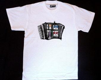 HALF PRICE SALE Accordion House T shirt
