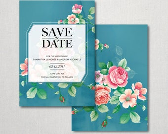 Floral Save the Date Invitation - Floral Invitation - Save the Date Invitation - Save the Date - Floral