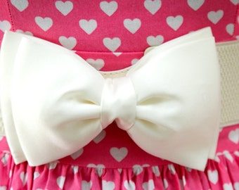 Cream Bow Belt