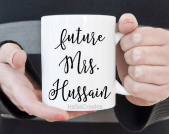 Personalized Engagement mug, Bride to Be.