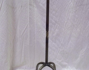 Hand Forged Wrought Iron Fireplace Tool Stand w/twist ....