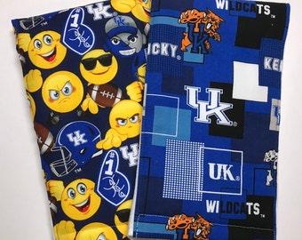 burp cloths, UK burp rags. Kentucky baby gift, baby shower gift, Item #297