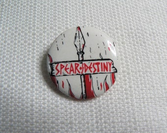 Vintage 80s Spear of Destiny - Post Punk - Pin / Button / Badge