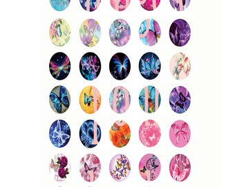 Digital images for cabochon or 120602 butterfly image transfer