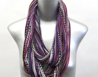 Purple Scarf, Purple Infinity Scarf, Gift for Her, Gift for Women, Statement Necklace, Scarf Women, Scarves for Women, Chunky Scarf, Womens
